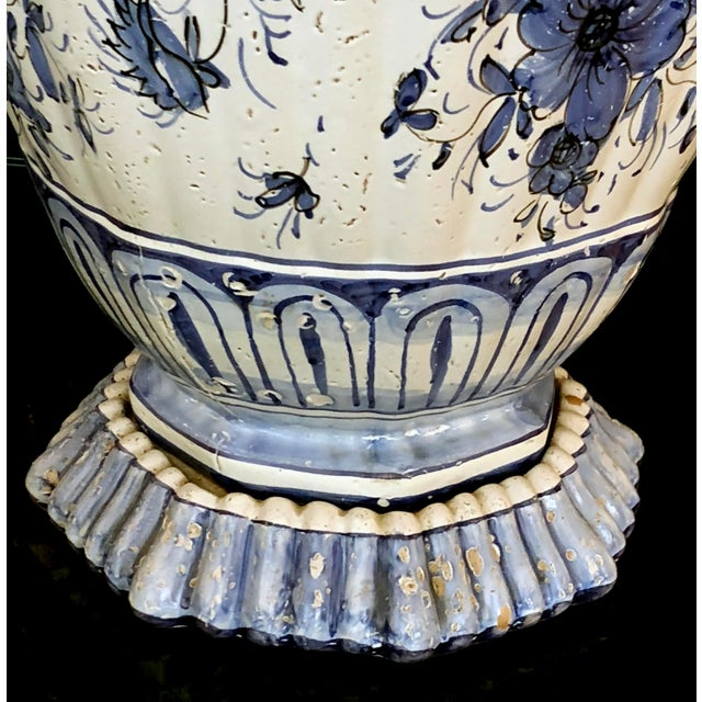 A Large and Good Quality Dutch 19th Century Blue and White Tin-Glazed Delft Ginger Jar Now Mounted as a Lamp For Sale In San Francisco - Image 6 of 7