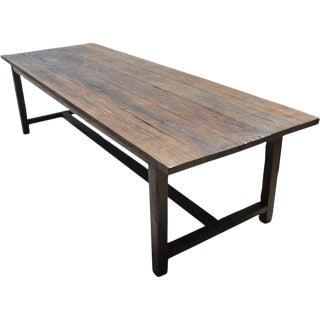 Vintage Country Fir Farm Table For Sale