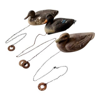 Vintage Duck Decoys - Set of 3 For Sale