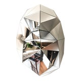 Image of Faceted Mirror Sculpture For Sale