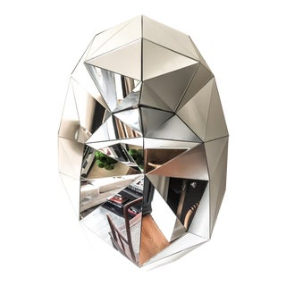 Faceted Mirror Sculpture For Sale