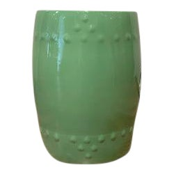 Solid Green Ceramic Garden Stool For Sale