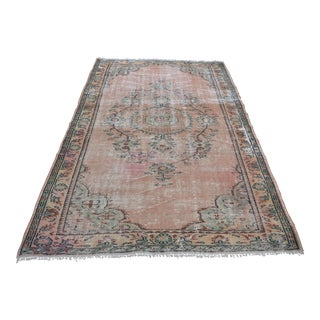 Vintage Turkish Handwoven Carpet - 5′6″ × 9′6″ For Sale