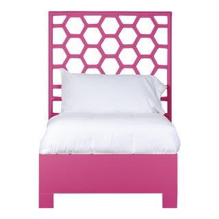 Honeycomb Bed Twin - Bright Pink For Sale