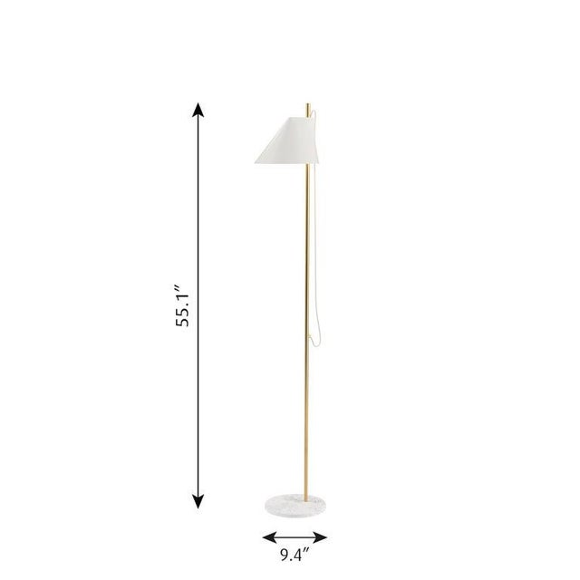 GamFratesi black 'YUH' brass and marble floor lamp for Louis Poulsen. Designed by Stine Gam and Enrico Fratesi, the YUH...