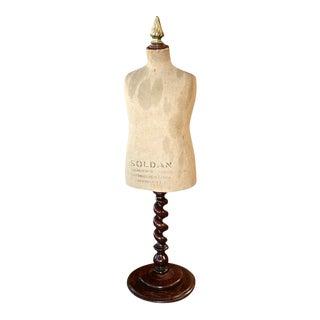 English 19th C. Vintage Dress Model For Sale