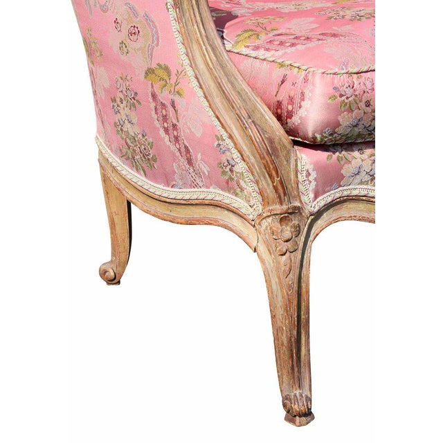 Louis XV Style Walnut and Painted Bergere Chair - Image 6 of 10