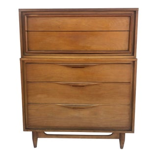 Mid-Century Modern Highboy Dresser For Sale