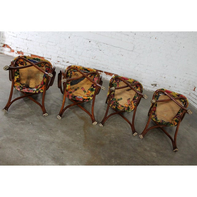 Antique Gebruder Thonet Bentwood Chairs - Set of 4 For Sale - Image 9 of 11