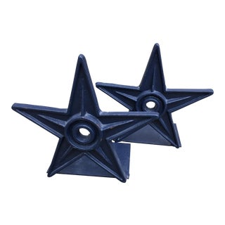 Vintage Architectural Star Wall Anchor Bookends - a Pair For Sale