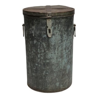 1920s Rustic Metal Container For Sale