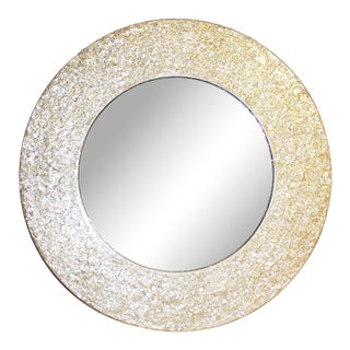 Round Mother-Of-Pearl Mirror For Sale