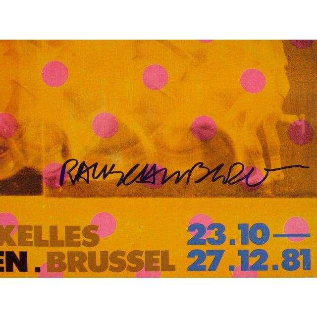 Robert Rauschenberg Robert Rauschenberg 1981 Moderna Museet Exhibition Poster Signed For Sale - Image 4 of 7