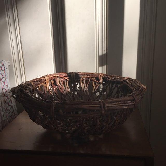 Artisan Wood Branch Nest Basket - Image 9 of 9