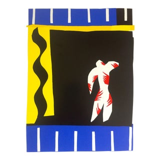 "Henri Matisse Rare Vintage 1991 Jazz Portfolio Lithograph Print "" Le Clown / the Clown "" 1947 For Sale"