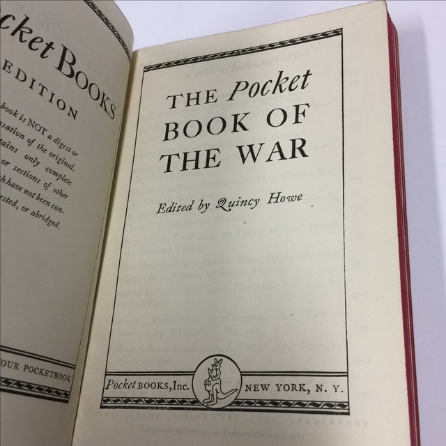 Pocket Book of the War 1941 Quincy Howe For Sale - Image 4 of 5