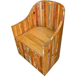 Reclaimed Wood Round-Back Chair