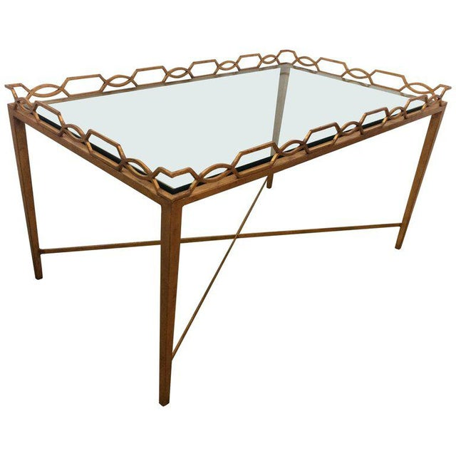 1970s Italian Gold-Leaf Coffee Table For Sale - Image 9 of 9