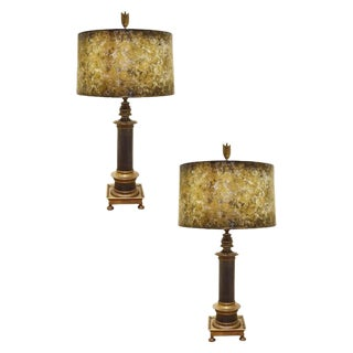 Pair of Vintage Brass Lamps For Sale