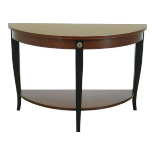 Ethan Allen Regency Style Cherry Hall Table For Sale