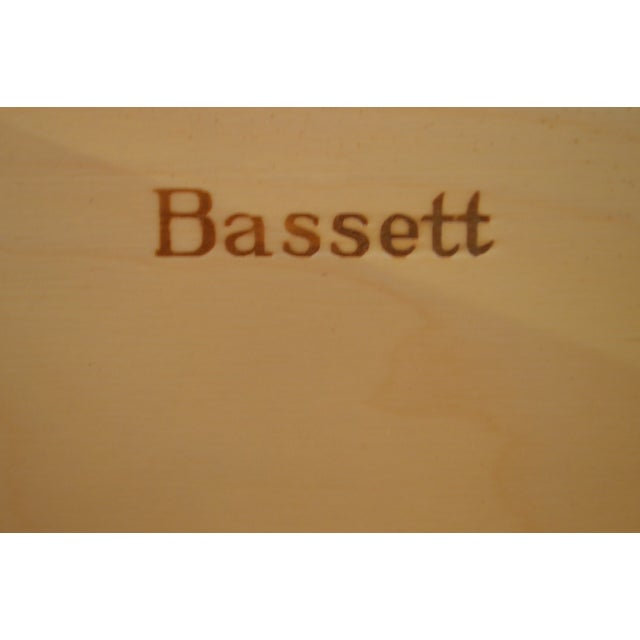 Bassett Traditional Cherry Gentlemans Tall Chest For Sale - Image 10 of 13