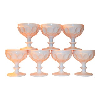 Vintage Champagne Coupe Glasses - Set of 7