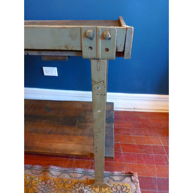 Industrial, Old Welders Workbench For Sale - Image 12 of 13