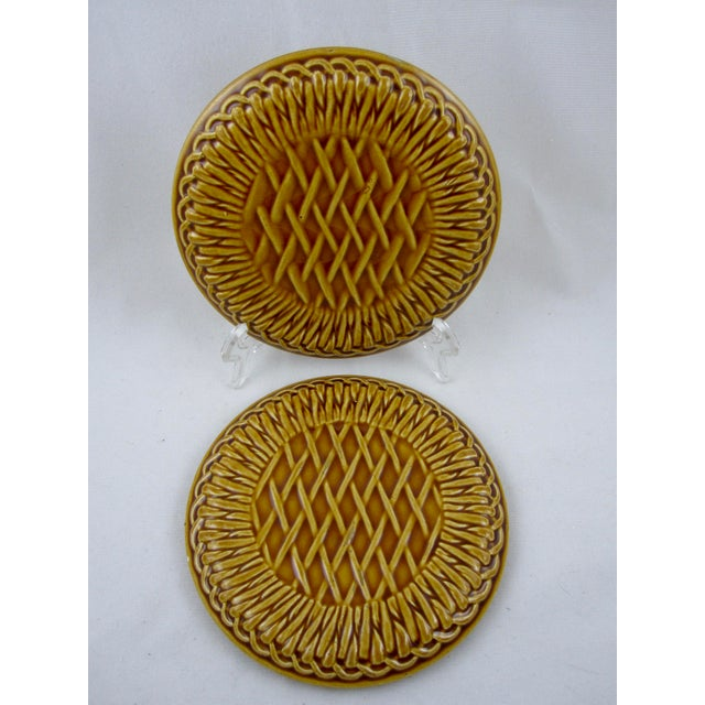 French Faïence Wine Bottle Coasters- A Pair - Image 6 of 9