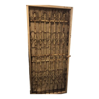 Antique Wrought Iron Charleston Gate For Sale