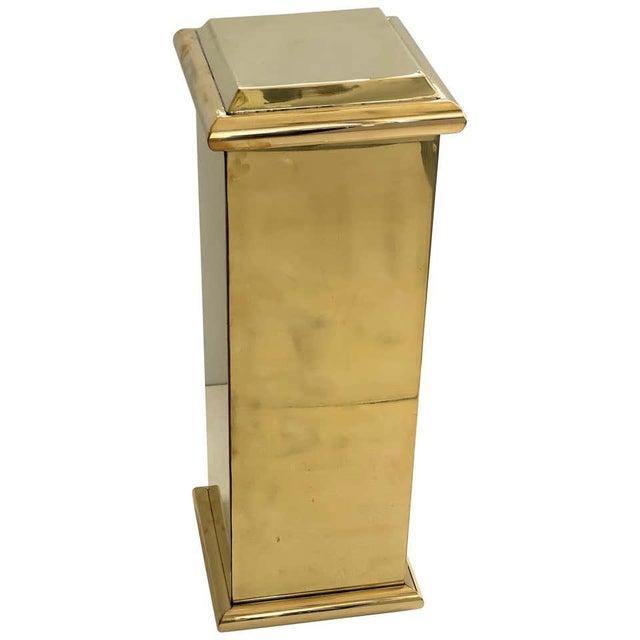 "30"" Polished Brass Pedestal by Crafts For Sale - Image 13 of 13"