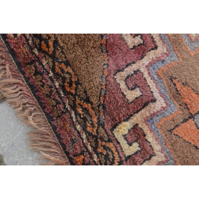 Hand Knotted Turkish Runner Rug - 3′7″ × 11′9″ - Image 3 of 9