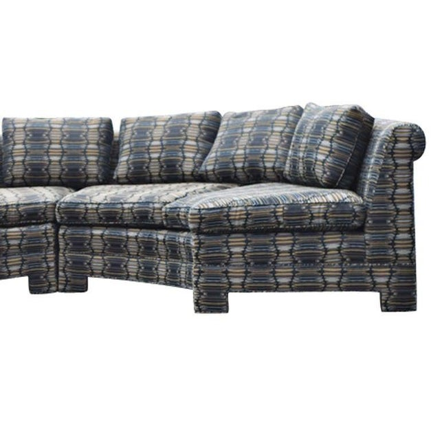 Mid-Century Modern Vintage Milo Baughman Circular Sectional Sofa For Sale - Image 3 of 9