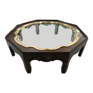 Vintage Chinoiserie Baker Furniture Co. Octagonal Coffee Table For Sale