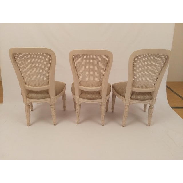 White French Cane Back Chairs - Set of 3 For Sale - Image 4 of 9