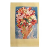 Image of 1940s Domergue Monte Carlo Flower Girl Poster For Sale
