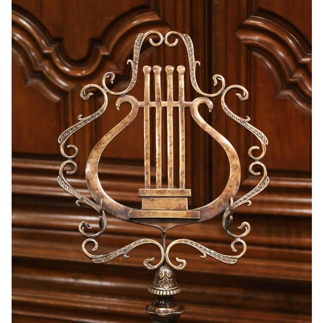 French Vintage French Style Patinated Bronze Lectern Music Stand For Sale - Image 3 of 9