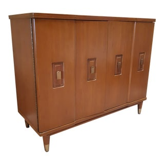 1950s John Widdicomb Mid Century Modern Walnut Credenza For Sale