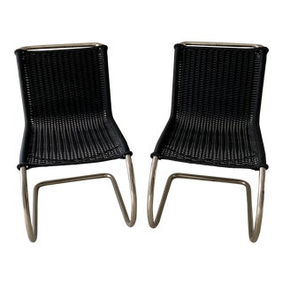 Mies Van Der Rohe Side Chairs- a Pair For Sale