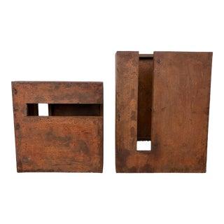 Sculptural Brutalist Sconces From 70's/2 For Sale