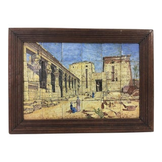 19th Century Orientalist Tile Painting For Sale