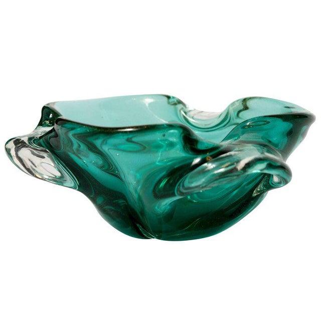 Contemporary Seguso Mid-Century Organic Modern Murano Bowl For Sale - Image 3 of 9