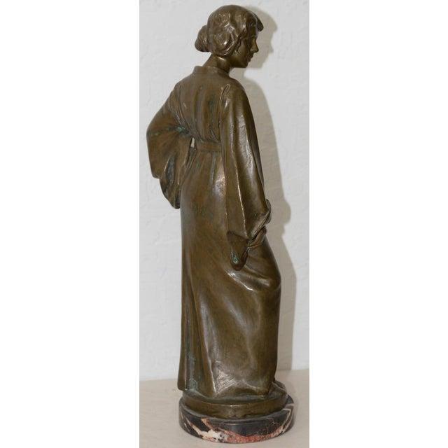 Art Nouveau Arnold Katsch (German 1861-1928) Art Nouveau Bronze C.1912 For Sale - Image 3 of 9