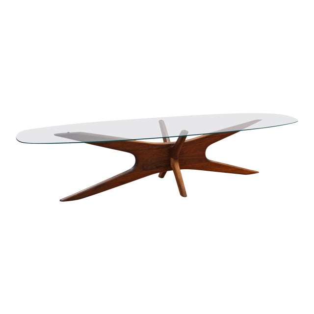 Adrian Pearsall Mid Century Modern Coffee Table With Glass Top Chairish