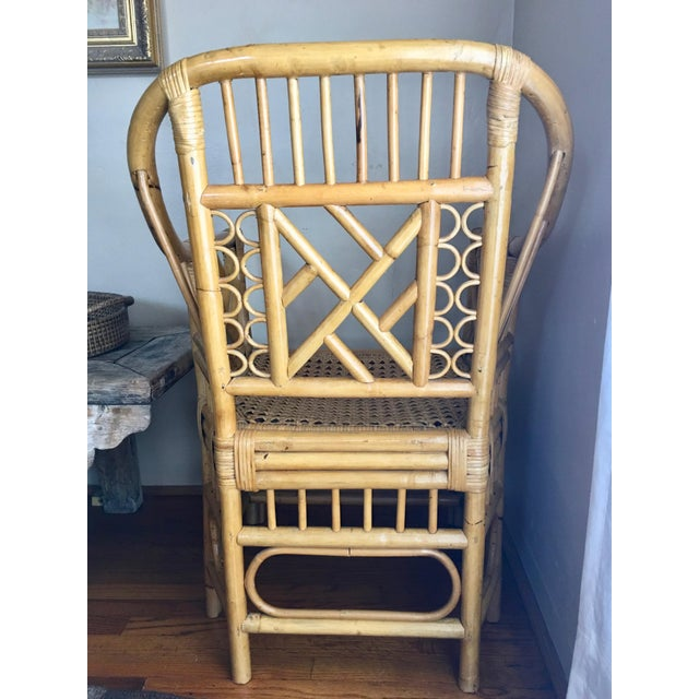 Wonderful rattan and cane chair. In excellent condition. Came from the home of a 99 yrs old woman who said she had had it...