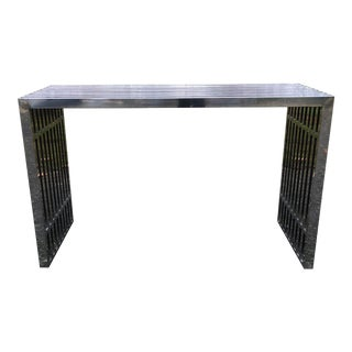 Mid-Century Modern Chrome Console in the Style of Theo Eicholtz For Sale