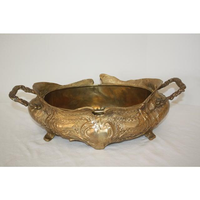 Vintage Art Nouveau Brass Jardiniere - Image 6 of 6