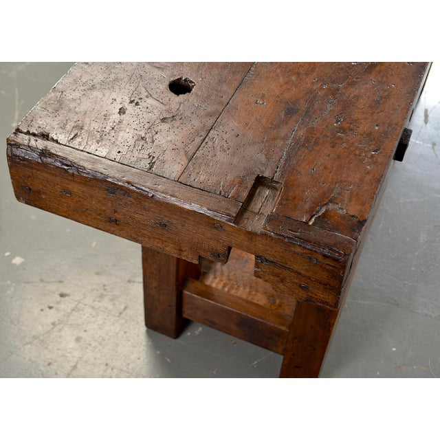 19th Century French Carpenters Workbench Table For Sale - Image 9 of 13