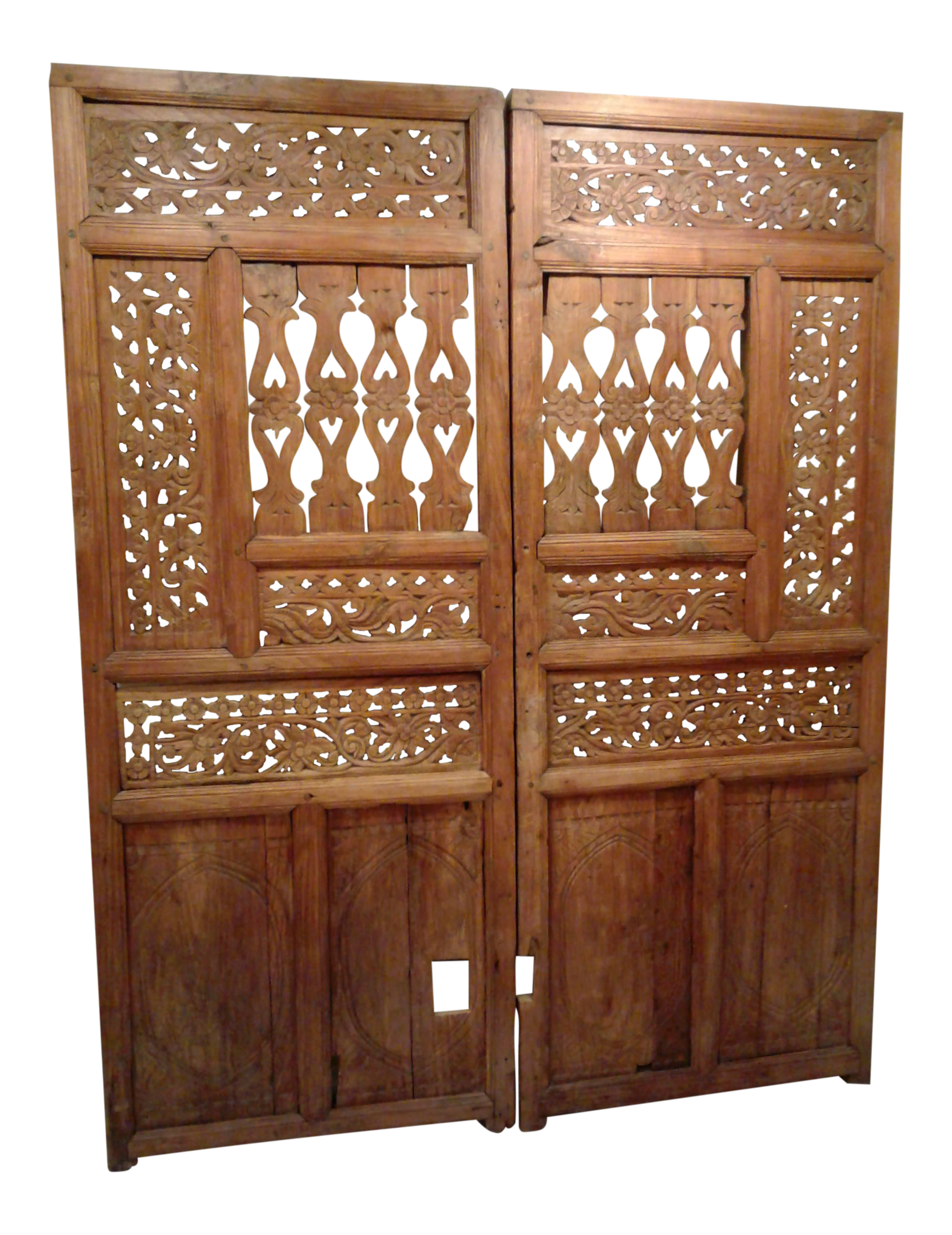 Antique Carved Temple Doors - A Pair  sc 1 st  Chairish & Vintage \u0026 Used Southwestern Doors and Gates | Chairish