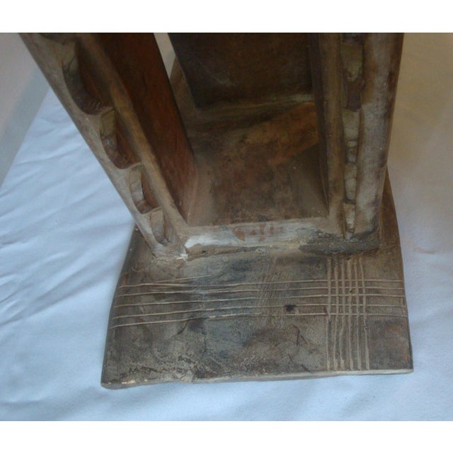 Brown Antique African Carved Ashanti Asante Stool For Sale - Image 8 of 11
