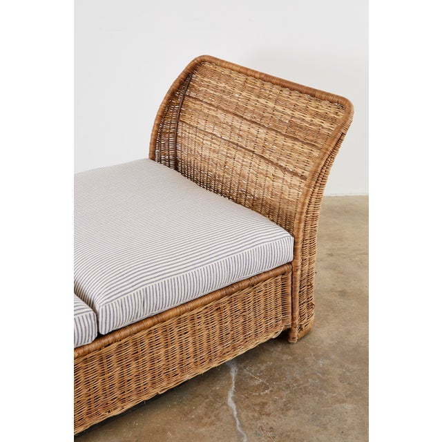 Organic Modern Style Wicker Daybed or Chaise Lounge For Sale - Image 12 of 13